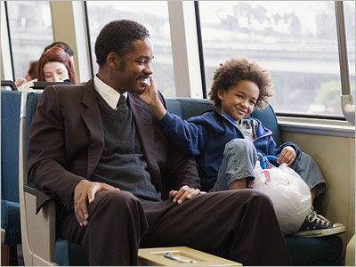 The Pursuit of Happyness depicts joy, hardship and setbacks.