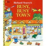 Two Richard Scarry children's books are included.