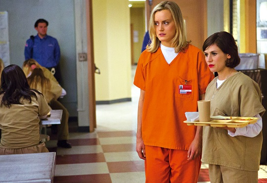 Taylor Schilling stars as a pampered Brooklyn woman who lands in prison in Orange is the New Black. (Publicity photo)