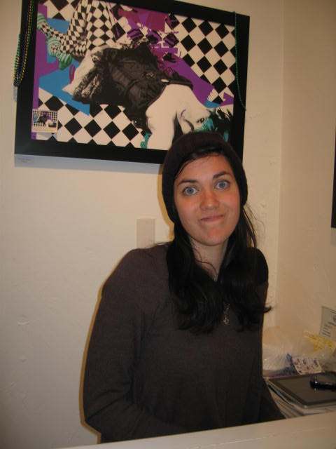 Photographer Kara Khan in the New Orleans gallery where she works. (Photo: Vickie Elmer)